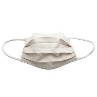 Mund-Nase-Maske aus Baumwolle 100% CO-Organic weiß