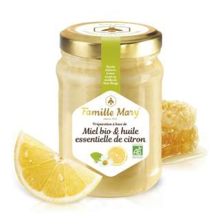 Honig mit ätherischen Ölen der Zitrone