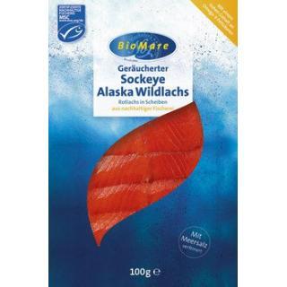 Sockeye Alaska Wildlachs, geräuchert