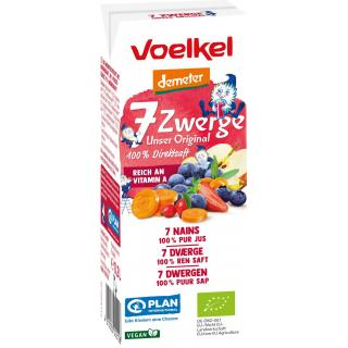 7 Zwerge Kindersaft 200ml Tetra
