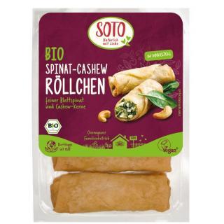Spinat-Cashew-Röllchen