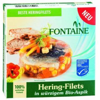 Hering-Filets in Aspik