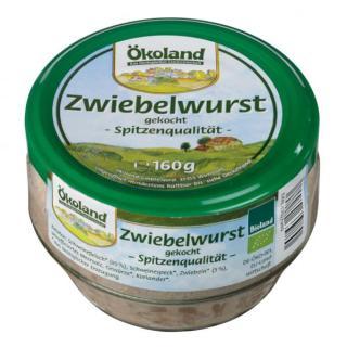 Zwiebelwurst gekocht  im Glas