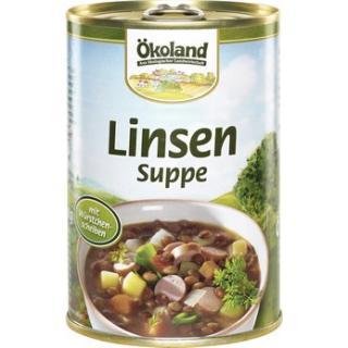 Linsensuppe m. Würstchenscheib