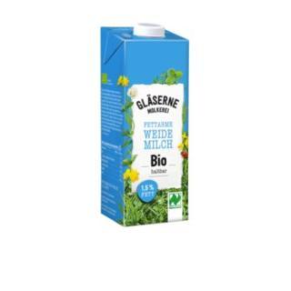 H-Milch 1,5%, Gläserne Molkerei