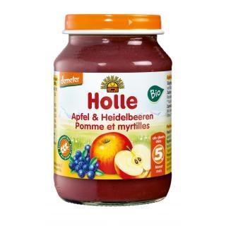 Baby Gläschen Apfel & Heidelbeeren