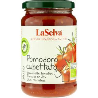 Tomaten gewürfelte im Glas